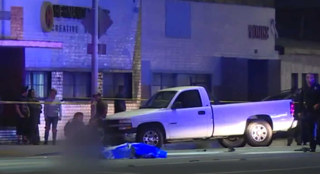 dos personas murieron atropelladas en un accidente en huntington park