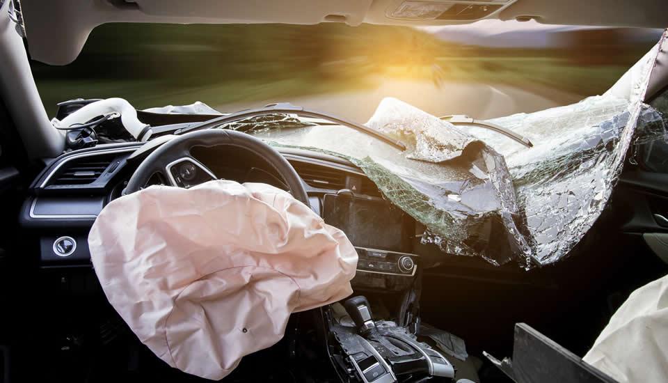 ¿Qué lesiones pueden causar las bolsas de aire después de un accidente?